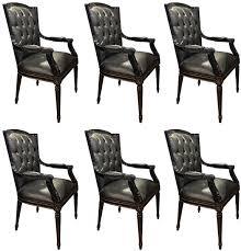 casa padrino luxus barock esszimmerstuhl set schwarz 6 echtleder küchen stühle mit armlehnen barock esszimmer möbel edel prunkvoll