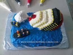 coolest sinking titanic cake
