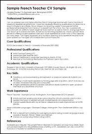 Sample French Teacher CV Sample