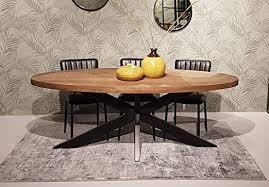 brix esstisch sturdy oval 210 x 100 cm mangoholz dinnertisch
