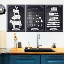details zu küche bilder poster 3er set rahmen wandgalerie kunstdruck schwarz weiß esszimmer