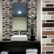 sticky back tile backsplash kitchen contemporary peel and stick