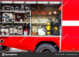 100 Fire Truck Red The Fire Truck Is Red And Rescue Equipment In A Fire