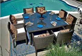 8 Person Patio Table by 14 Resin Wicker Patio Furniture Carehouse Info