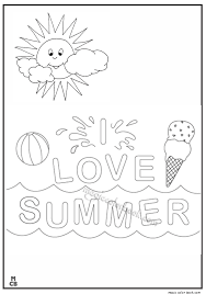 Summer Sun Coloring Pages