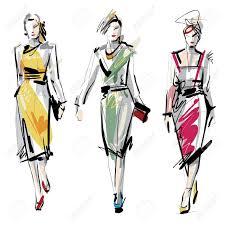 Sketch Fashion Design Clipart