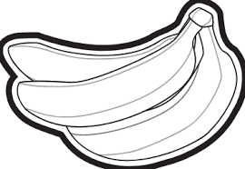banana clipart black and white jtxeyrjbc