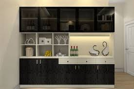 Dining Cabinet Walnut Color Cabinets Wood Wine