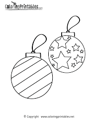 Christmas Ornaments Coloring Page Printable