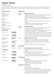 100 Dental Assistant Resume Templates Sample Complete Guide 20 Examples