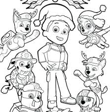 Paw Patrol Coloring Pages Ryder Colouring