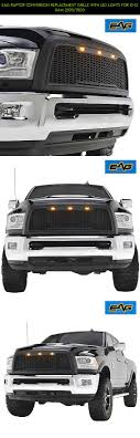EAG Raptor Conversion Replacement Grille With LED Lights For 10-12 ...