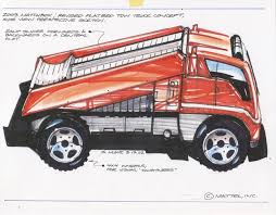 100 Matchbox Tow Truck 2003 Revised Flatbed Concept Side View