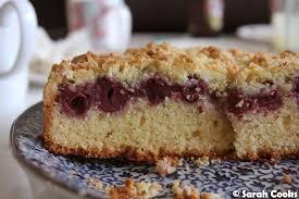 cooks kirsch streuselkuchen cherry crumble cake