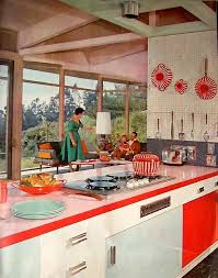 1958 Pink And Red Via Flickr 1950s KitchenRetro