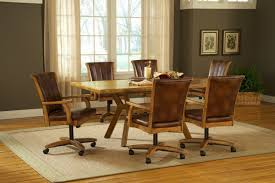 Dining Room Chairs With Wheels Swivel Dining Room Chairs With Casters