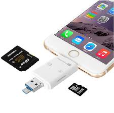 3in1 Micro USB OTG Card Reader Micro SD SDHC TF SD Card For iPhone