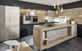 moderne beton optik und holz in der küche nolte kuechen