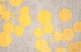 Modern Yellow Rug Organic Rugs Inspired By Nature Gray