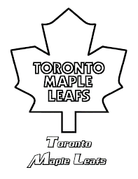 Maple Leaf Coloring Page Toronto Clipart Clipartxtras