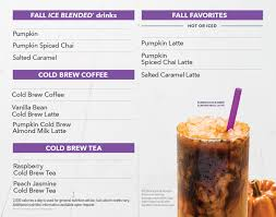Iced Pumpkin Spice Latte Nutrition Facts by Complete Menu Information For The Coffee Bean U0026 Tea Leaf Of Las Vegas