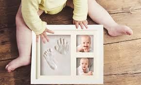 cadre photo bébé avec empreinte groupon