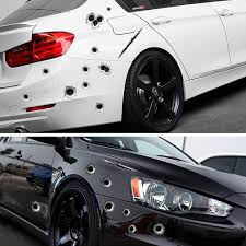 Realistic 3D Bullet Hole Decal Stickers For Your Car, Motorcycle, Or ...