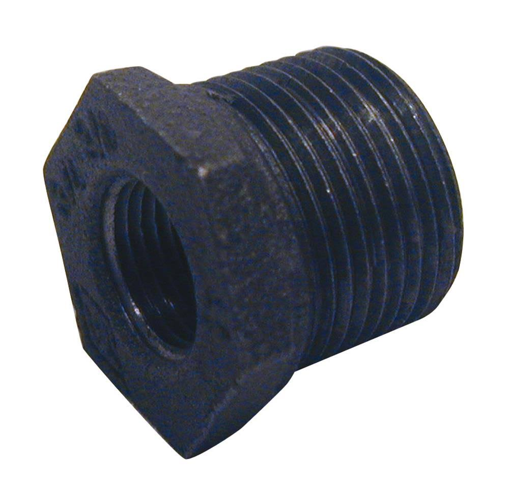"B & K Malleable Black Iron Hex Bushing, 3/4"" Fip x 1/2"" Fip"