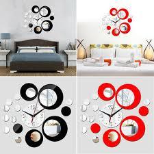 wanduhr schlafzimmer untersuchung modern 3d spiegel acryl