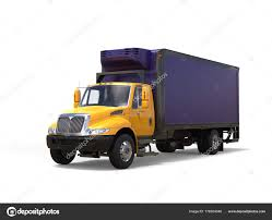 Yellow Purple Refrigerator Truck — Stock Photo © Trimitrius #178354346
