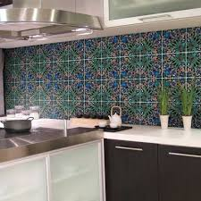 mesmerizing kitchen wall design with unique pattern wall tiles
