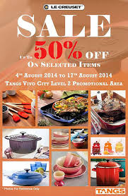 le creuset pots prices le creuset sale tangs vivocity offers up to 50 on selected