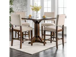 Glenbrook 5 Piece Pub Dining Set By Furniture Of America At Rooms For Less 54 Pub Sets Tall Bar Tables And Chairs High Top Table Mix Match 9 Piece Counter Height Ding Set By Coaster At Dunk Bright Fniture 5 Details About 4 Wood Kitchen Dinette Room Breakfast Basil Luckyermore Rustic Wooden And For Small Spaces Camelia Espresso Stool Crown Mark Del Sol Black 5pc Sunny Designs Metro Flex Delightful Style Walmart Stools