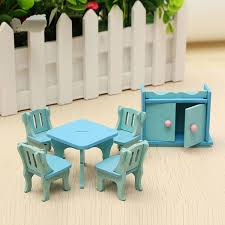 Dollhouse Kitchen Simulation Furniture Set Dining Table Cabinet For