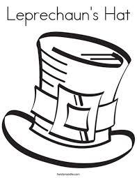 Leprechauns Hat Coloring Page