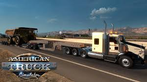 100 American Trucking Truck Simulator Kenworth T800 Heavy Equipment Hauler