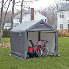 shelterlogic shed in a box canopy storage shed 6l x 6w x 6h ft