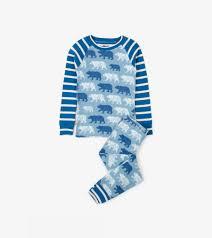 100 Monster Truck Pajamas Polar Bear Silhouettes Organic Cotton Raglan Pajama Set Sale