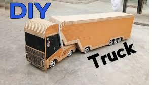How To Make Powerful Cardboard Container Truck || DIY Container ...