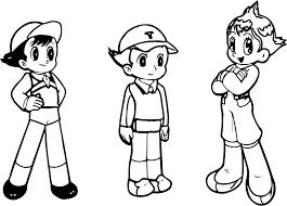 Tobio Timeline Astro Boy Coloring Page