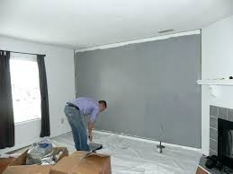 Gray Accent Wall Grey Living Room With Purple