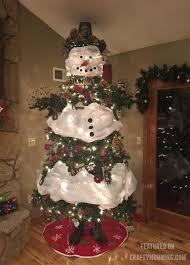 Snowman Christmas Tree Craft