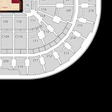 Cavs Floor Box Seats by Cleveland Cavaliers Seating Chart U0026 Interactive Map Seatgeek