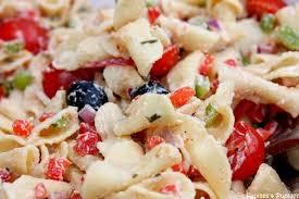 recette de salade de pâtes facile aux tomates poivrons et ricotta