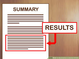 How to Summarize a Journal Article with Examples wikiHow