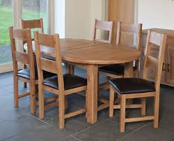 Buy Furniture Link Hampshire Oak Dining Set 180cm Oval Extending Intended For Table And Chairs Plans