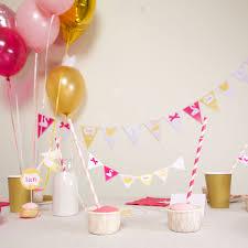 décoration anniversaire 1 an fille kit theme cygne achat vente