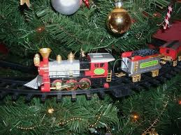 Christmas Tree Train Set Co Image Home Garden And Rtecx