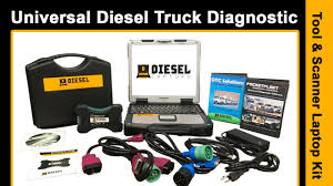 Universal Diesel Truck Diagnostic Tool & Scanner Laptop Kit Product ...