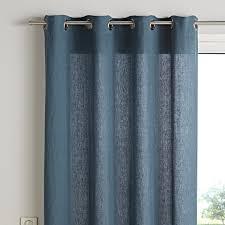 rideaux prets a poser rideau prêt à poser viti col bleu canard dim 140 x 280 cm